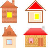 Cartoon houses set — Stock Vector