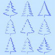 Christmas trees collection — Stock Vector #4329005