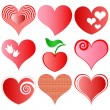 Stock Vector: Vector hearts set