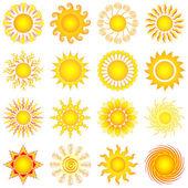 Conjunto de sol — Vector de stock