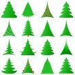 Christmas trees collection — Stock Vector #4504436