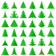 Christmas trees collection - 图库矢量图片