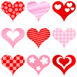 Hearts set — Stock Vector #4537220