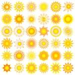太阳落山 — 图库矢量图片