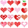 Hearts set — Stock Vector #4590993