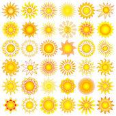 солнце садится — Cтоковый вектор