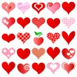 Hearts set — Vector de stock