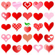Royalty-Free Stock Immagine Vettoriale: Hearts set