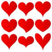红色的心集 — 图库矢量图片