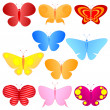 Colorful butterflies set — Stock Vector