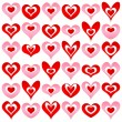 Stock Vector: Hearts set