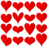 Red hearts set — Stock Vector