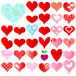 Stock Vector: Valentines set