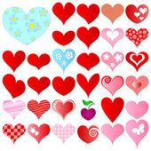 Valentines set — Stock Vector