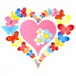 Valentine butterflies heart — Stock Vector