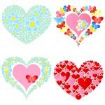 Valentine symbolic hearts — Stock Vector