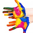 Stock Photo: painted hands