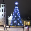 City Christmas Tree, Vilnius, Lithuania — Stock Photo