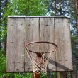 Old basketball backboard - Stock Photo