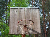 Old basketball backboard — Stock Photo