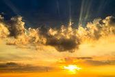 Sunset sky, sun — Stock Photo