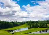 Golf fält — Stockfoto