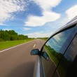 Car on the highway — Stock Photo
