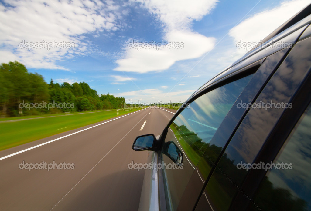 Car on the highway — Stock Photo #4916972