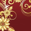 Beautiful background with gold pattern — Stock Vector