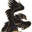Eagle - vehicle graphic — Vector de stock #4237943