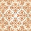 Damask seamless pattern. Vector illustration. — Stock Vector