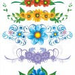 Royalty-Free Stock Vector Image: 5 floral elements for design