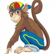 Smiley monkey - Stock Vector
