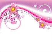 ピンクの花。花の背景. — ストックベクタ