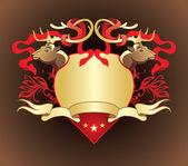 Gold heraldry — Vector de stock