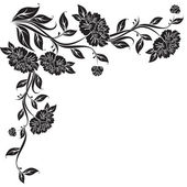 Vector flores de peonía — Vector de stock