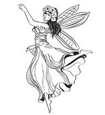 Fairy vector — Stock Vector