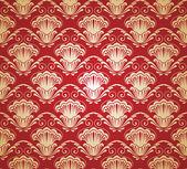 ダマスク織のシームレスなパターン。ベクトル イラスト. — ストックベクタ