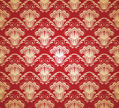 Damask seamless pattern. Vector illustration. — 图库矢量图片