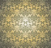 Damask seamless pattern. Vector illustration. — Stok Vektör
