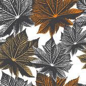 Leaf pattern vector — Stock Vector