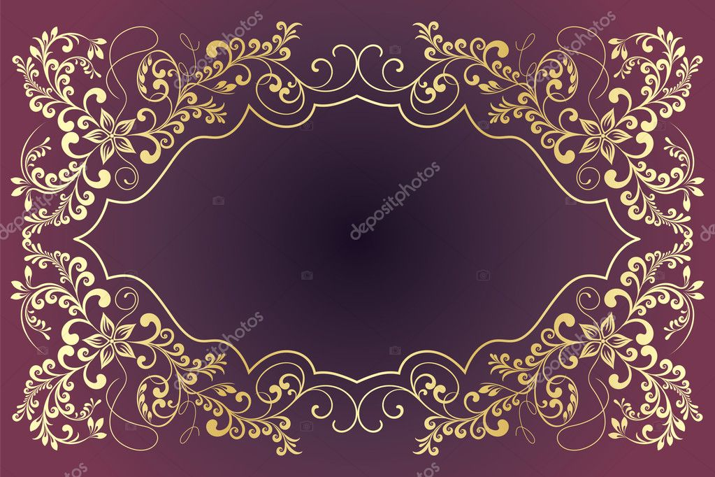 Vintage frames for text. — Imagen vectorial #4237745