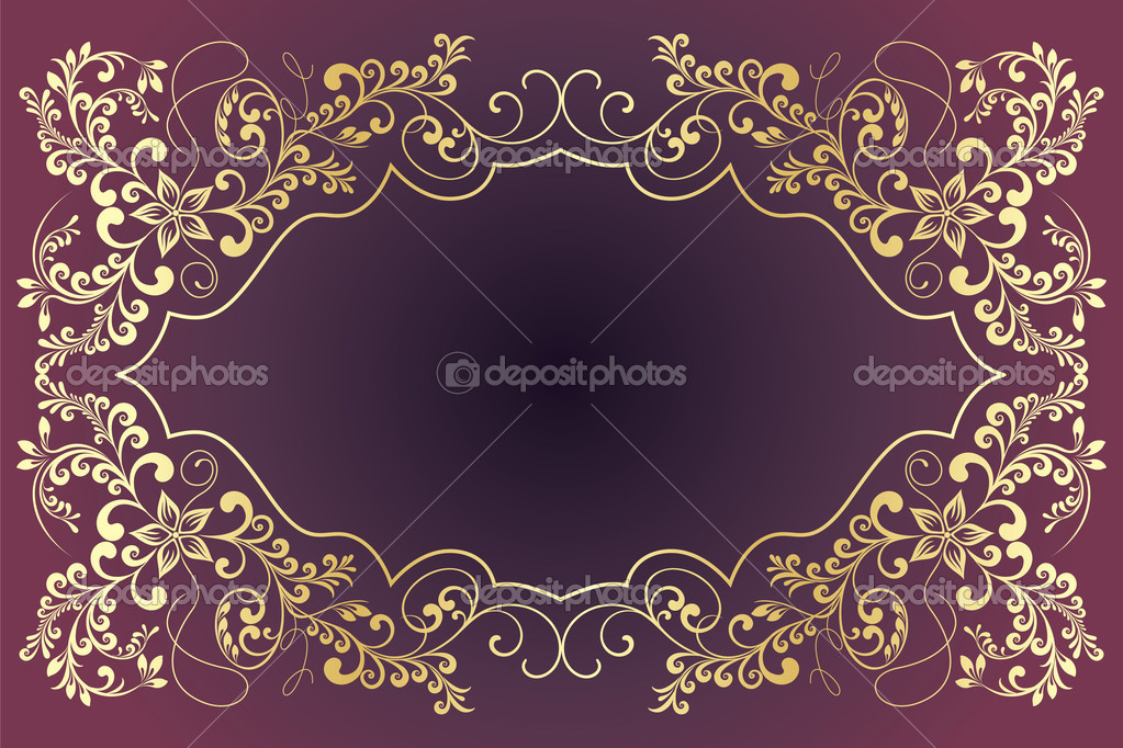Vintage frames for text. — Image vectorielle #4237745