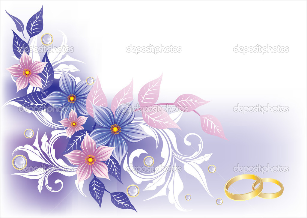 Wedding card  Stock Vector #4237859