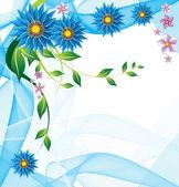 Abstracte florale achtergrond — Stockvector