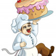 Pastry cook - Stock Vector