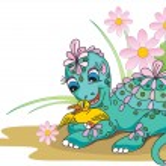 Cartoon dragon - vector illustration. — Stock Vector
