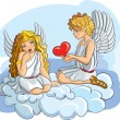 Royalty-Free Stock Vector Image: Hand-Drawn Sketchy two Angels