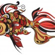 Stylized Hand Drawn Fish - 图库矢量图片