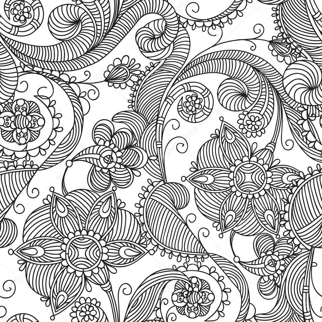Seamless floral background  Vektorgrafik #4250067